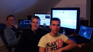 The Team in our edit suite